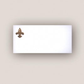 Cartes de correspondance Lys royal - Format 100 x 210 mm